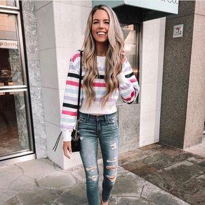 Abercrombie & Fitch Striped Sweatshirt